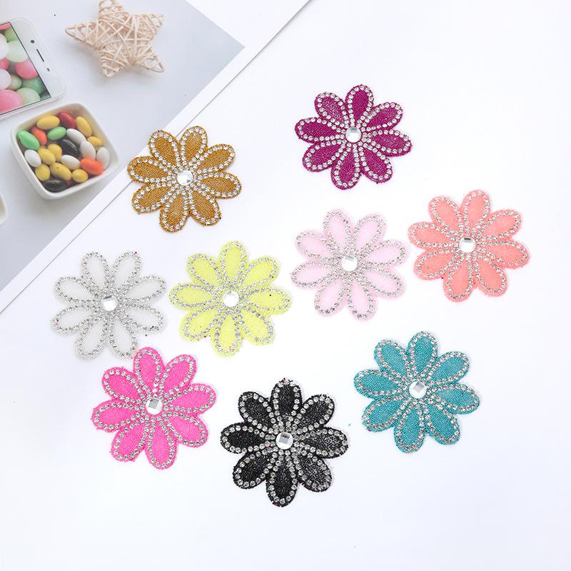Yapışkan Silikonlu Aplik Çiçek Desenli